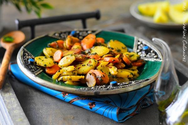 Po l e de carottes ail et persil recette facile le blog cuisine de samar - Cuisiner des carottes a la poele ...