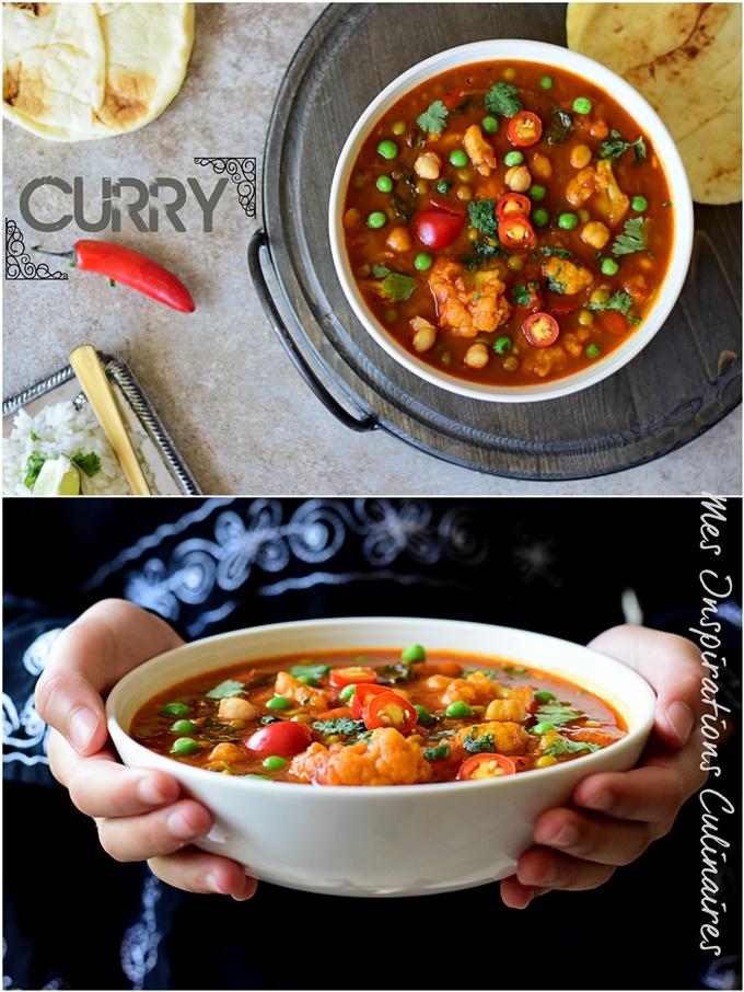 Curry de légumes (cari indien végétarien)
