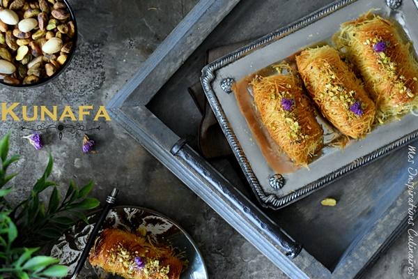 Konafa au fromage ricotta (ktayef libanaise)