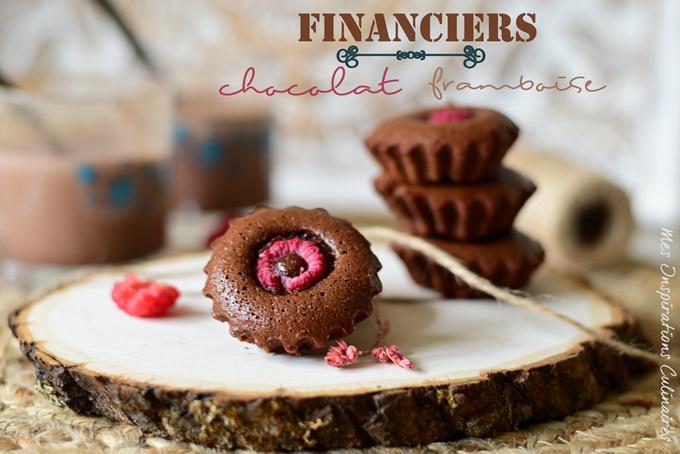 Financiers à la framboise, au chocolat