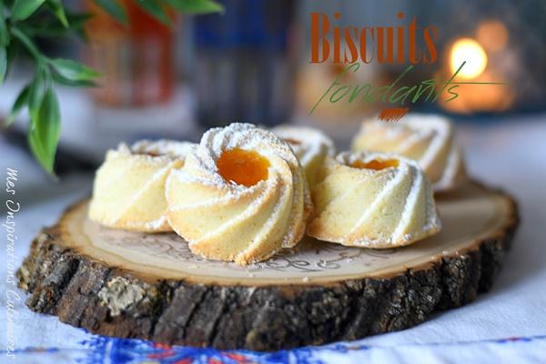 Biscuits fondants à la maïzena, confiture d'abricot