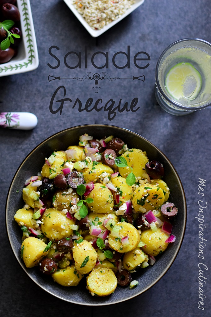 Salade de pomme de terre façon grecque estivale a la feta