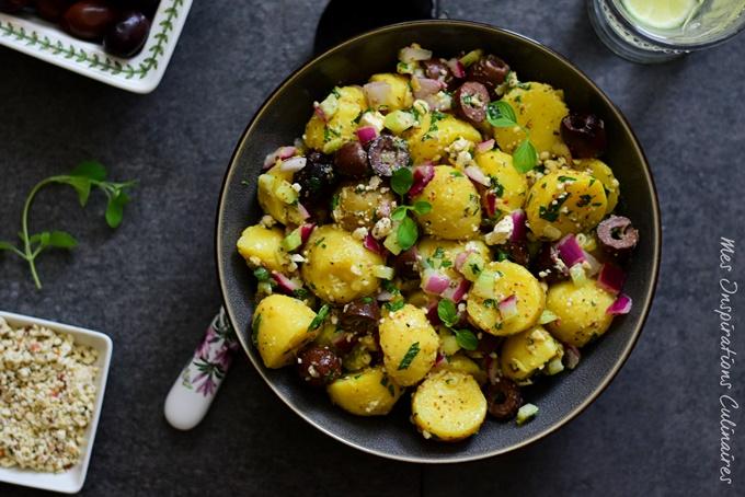 recette Salade de pomme de terre façon grecque