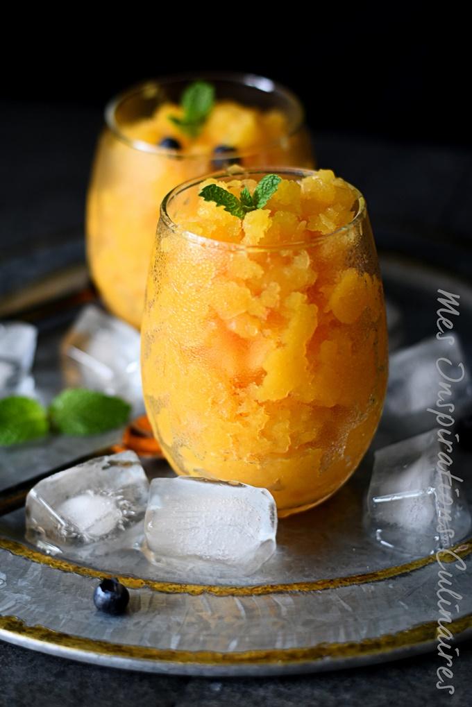 Granité de Melon au basilic