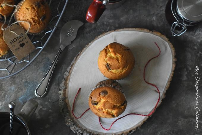 Recette Muffins moelleux aux pépites de chocolat noir