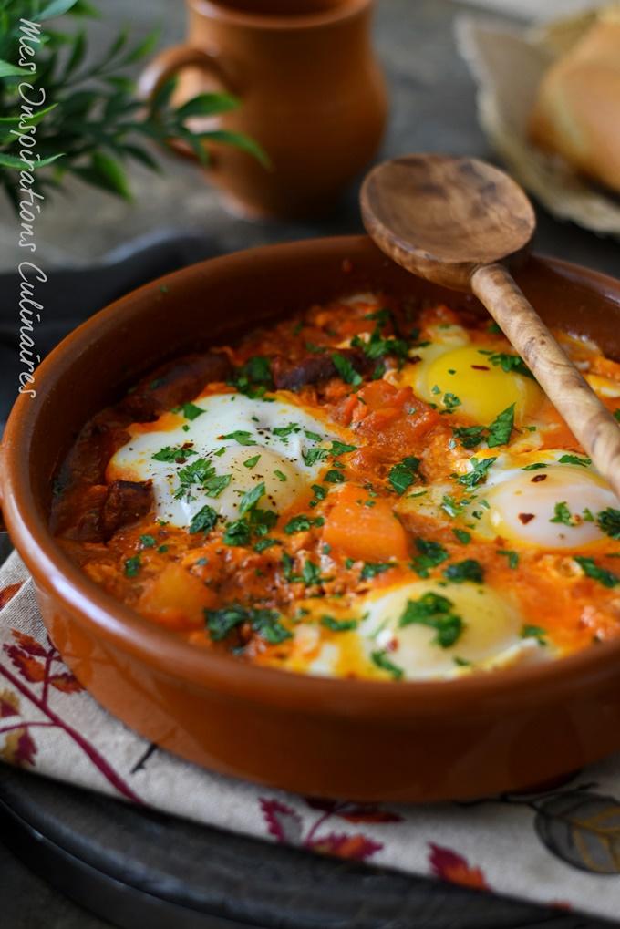 Ojja Tunisienne Aux Oeufs Avec Ou Sans Merguez Le Blog Cuisine