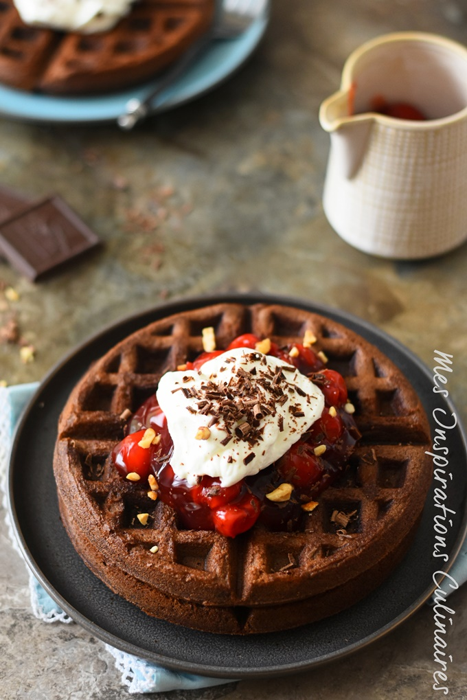 Recette gaufres brownie Waffle