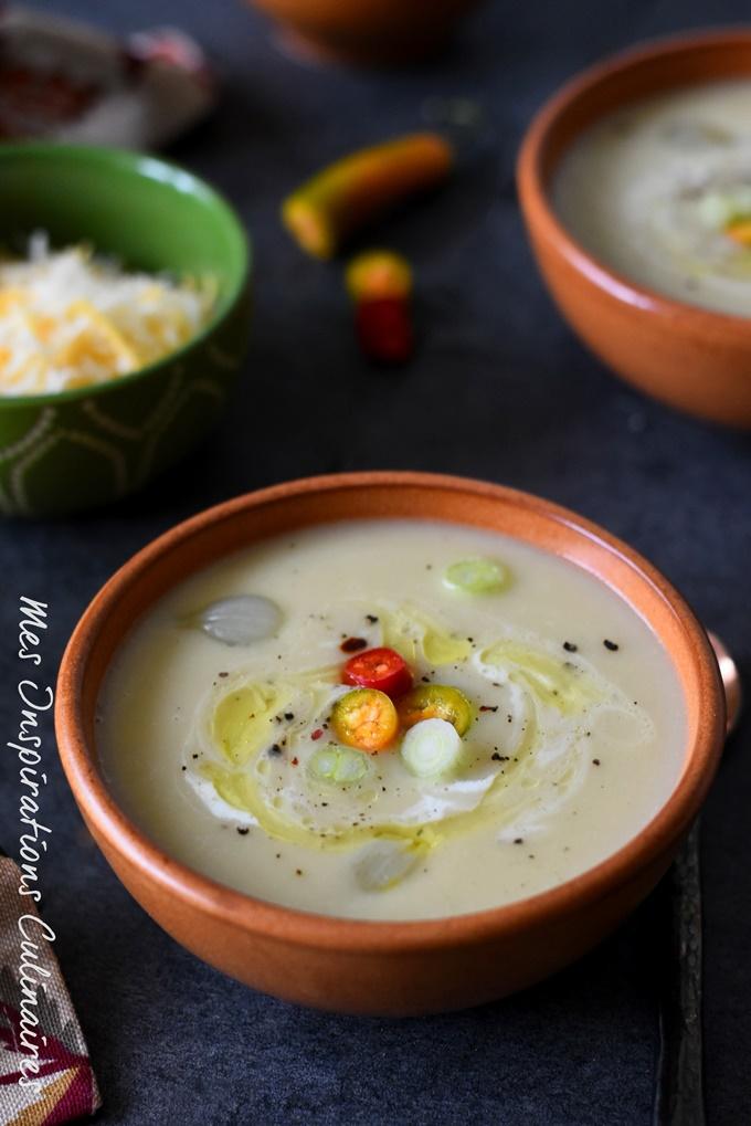 Soupe aux poireaux, recette mexicaine (Sopa de poro y papa)
