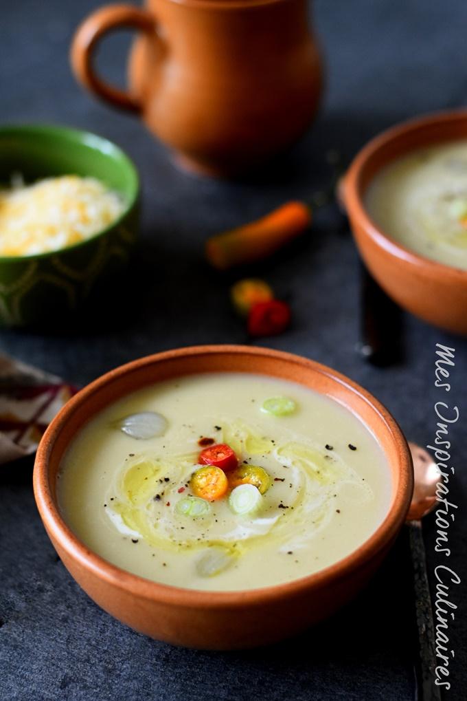 Soupe aux poireaux et pomme de terre (Sopa de poro y papa)