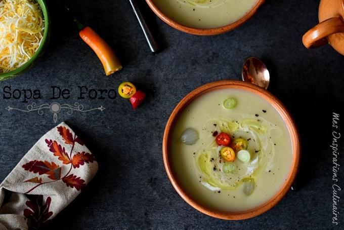 Soupe mexicaine aux poireaux (Sopa de poro y papa)