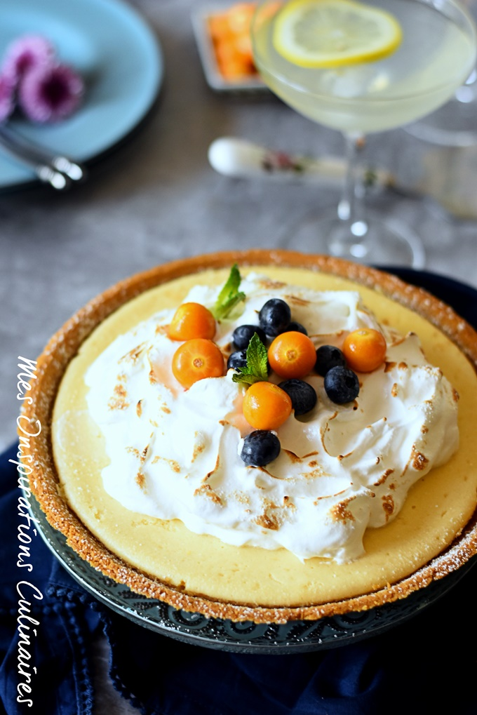 Tarte au citron au lait concentre sucré et biscuits Graham