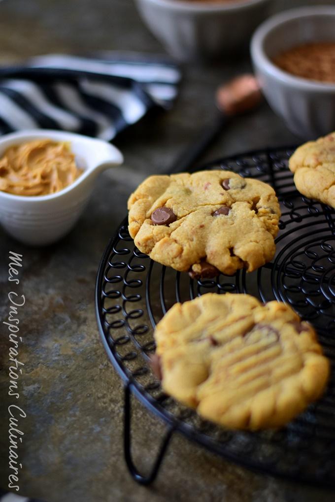 recette Cookies au peanut butter et pépites de chocolat