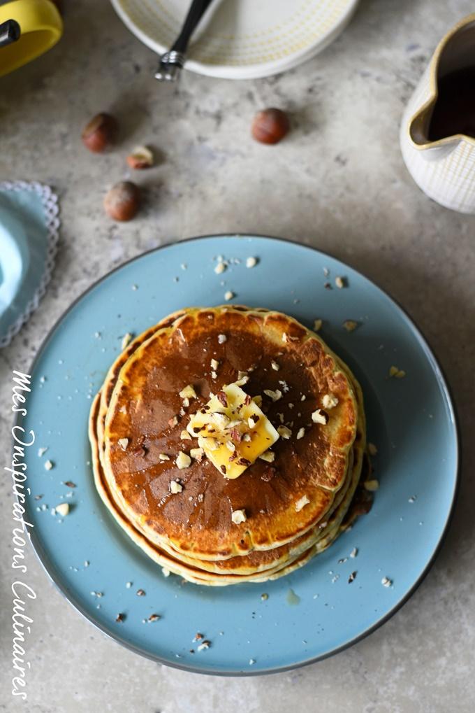 Pancakes aux noisettes recette sans lactose