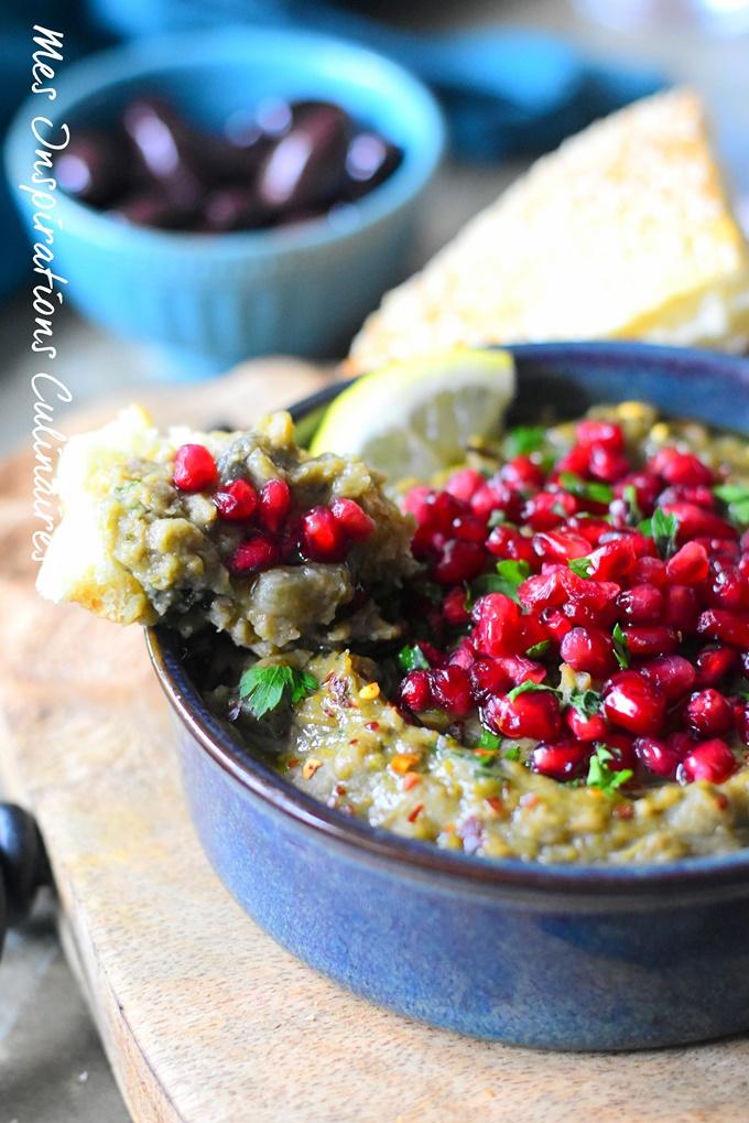 Recette Ragoût de Lentilles, aubergines et grenade