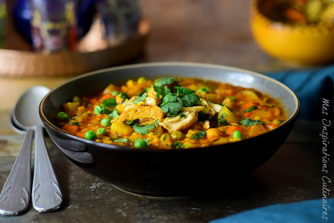 Berkoukes au poulet, recette algérienne