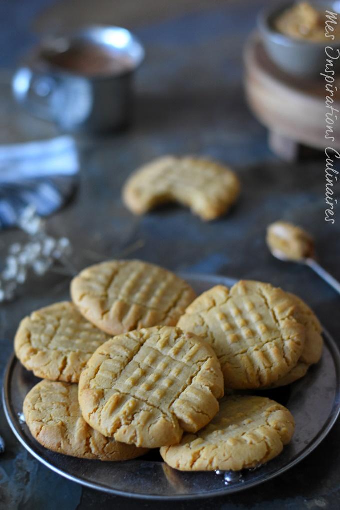Biscuits au beurre de cacahuète, recette avec 3 ingredients