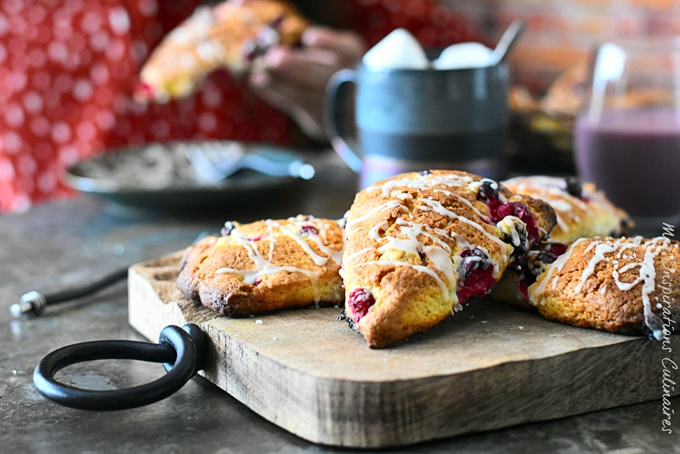 Recette scones (cranberries frais ou surgelés)