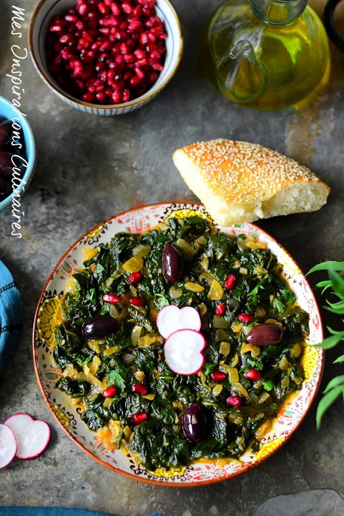 Salade de mauve palestinienne