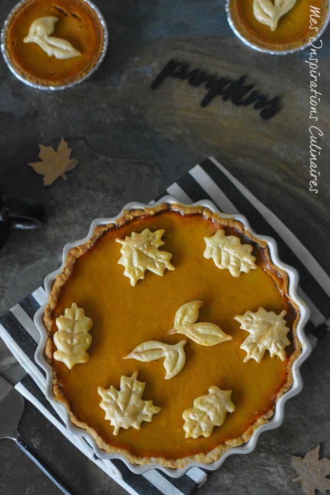 La pumpkin pie tarte au potiron sucrée pour Thanksgiving