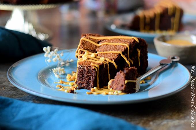 Fondant au beurre de cacahuète et chocolat