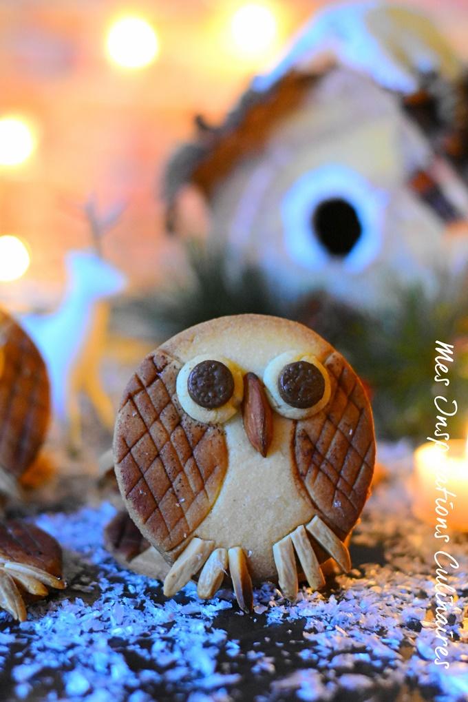 Sablés Hiboux biscuit chouette pour Noel