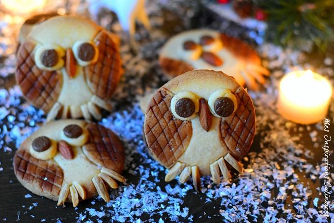 Biscuits Chouettes de Noël (Sablés hiboux)