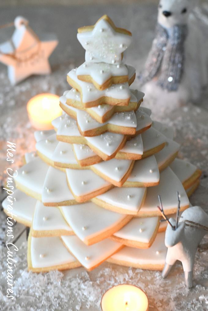 Sapin de Noël en Sablé, recette 3D