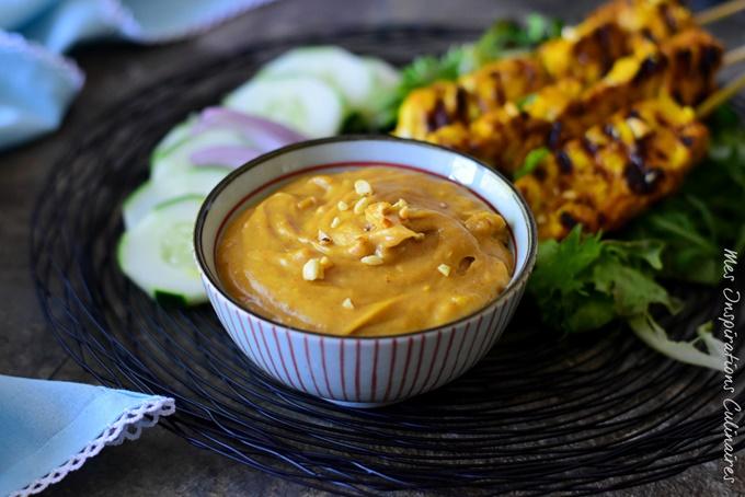 Sauce Satay, sauce maison aux arachides