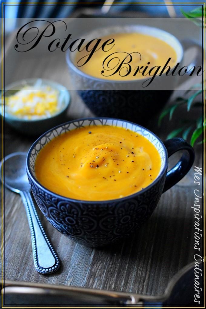 Potage Brighton (velouté carottes et cheddar)
