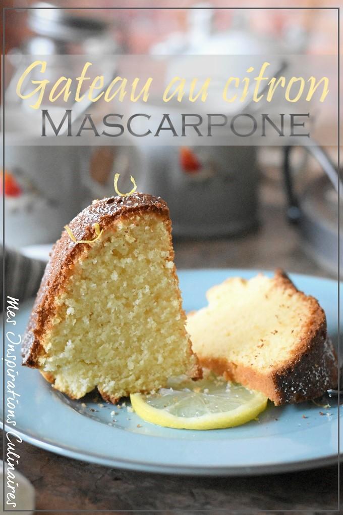 Gâteau au citron mascarpone facile