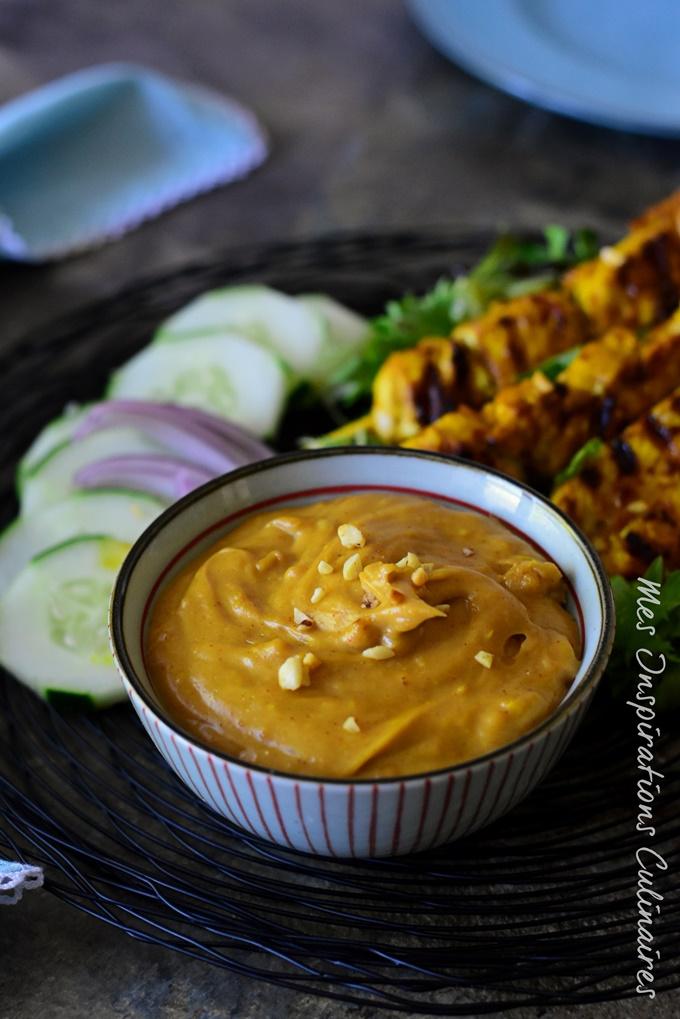Sauce Satay, sauce aux cacahuetes asiatique