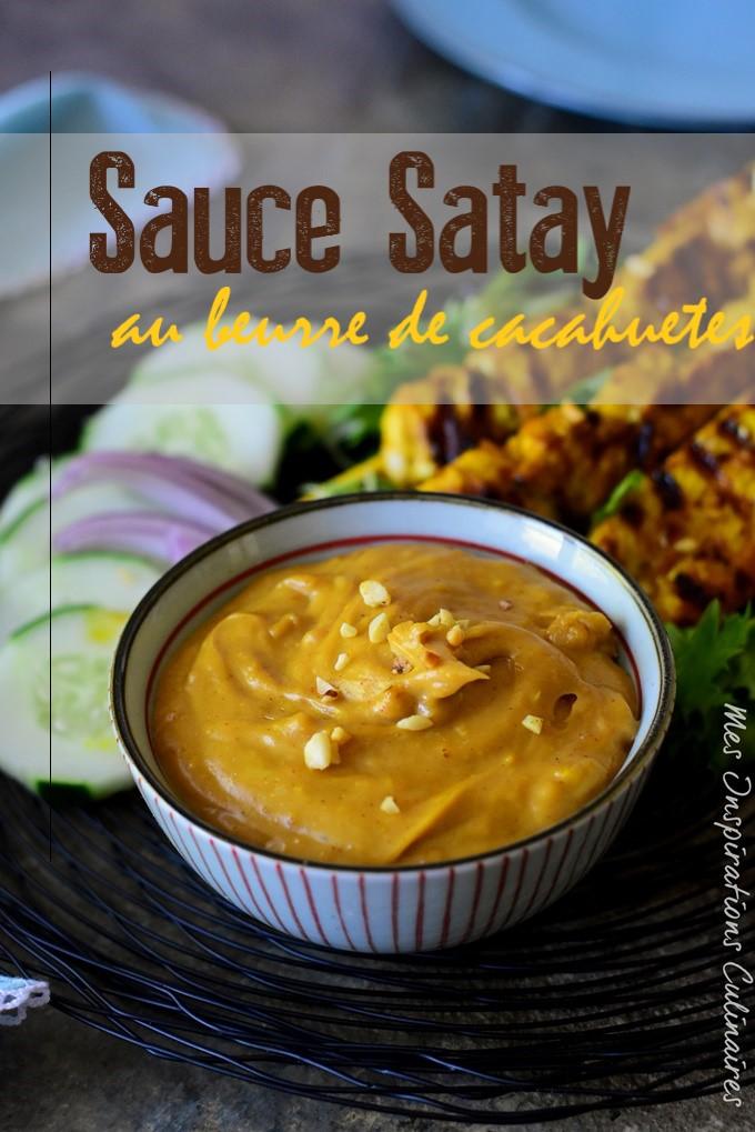 Sauce Satay, sauce Sate aux arachides