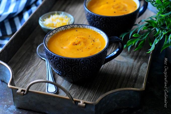 recette potage Brighton soupe de carottes et cheddar