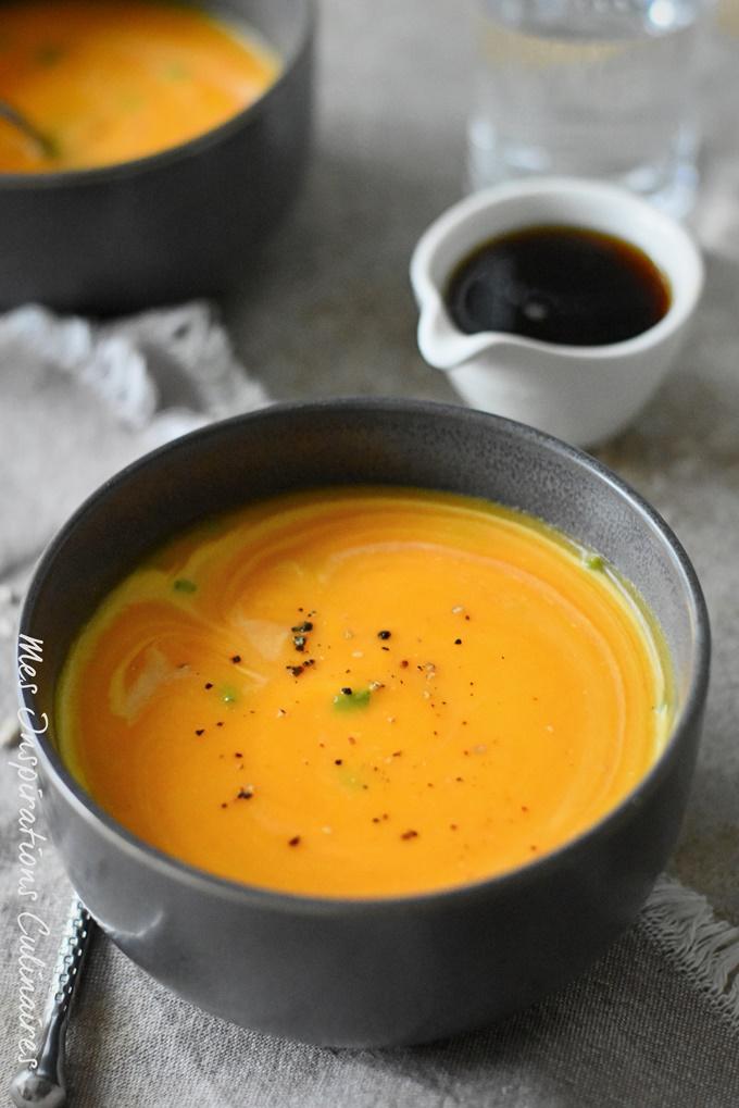 Recette soupe Butternut courge musquée au sirop d'érable