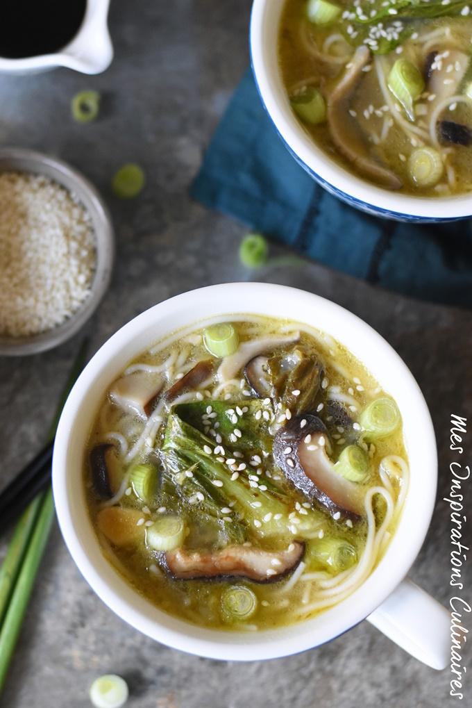 Soupe chou pak choi (ou Bok choy)