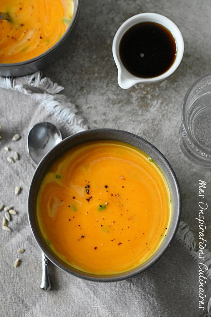 Soupe Butternut sirop d'érable et épices Thaï