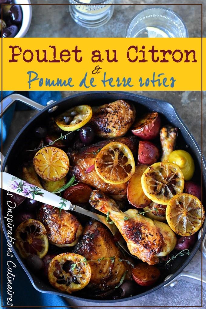 Recette poulet au citron au four