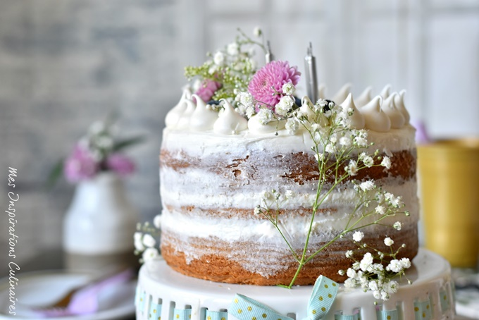 Le naked cake, gâteau tendance