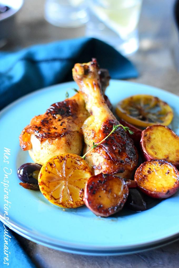 Recette poulet au citron