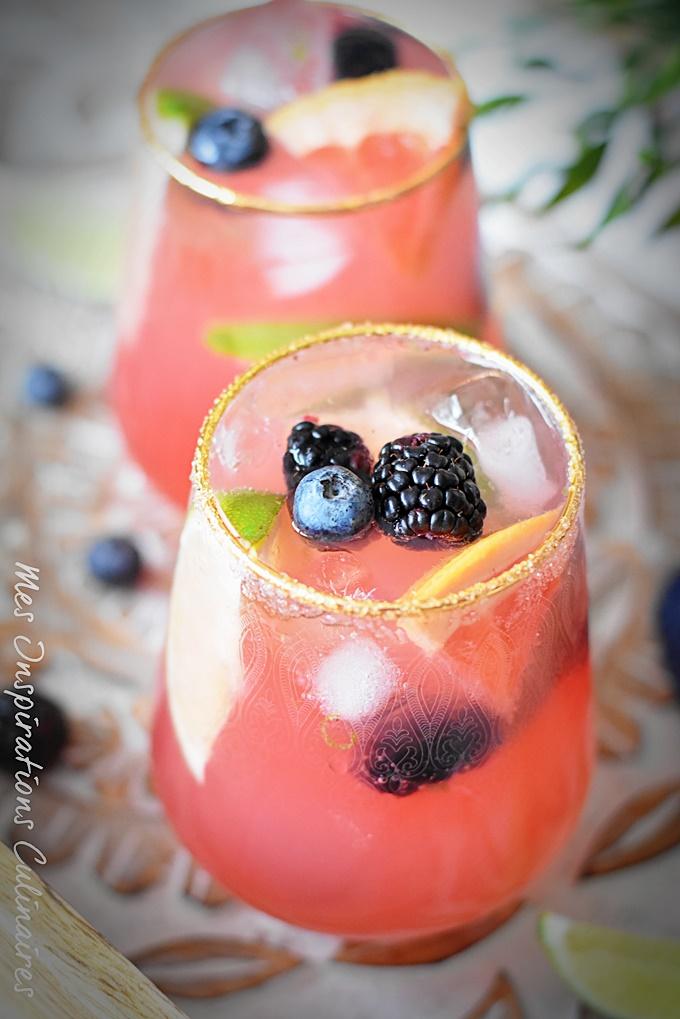 Cocktail au pamplemousse citron vert sans alcool