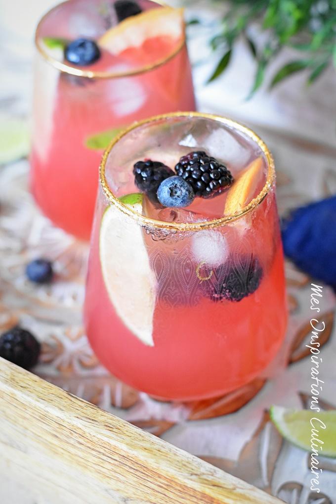 Cocktail pamplemousse sans alcool (Paloma)
