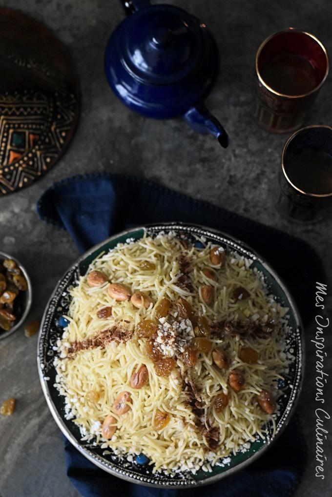 Seffa vermicelle au poulet (Seffa Medfouna)