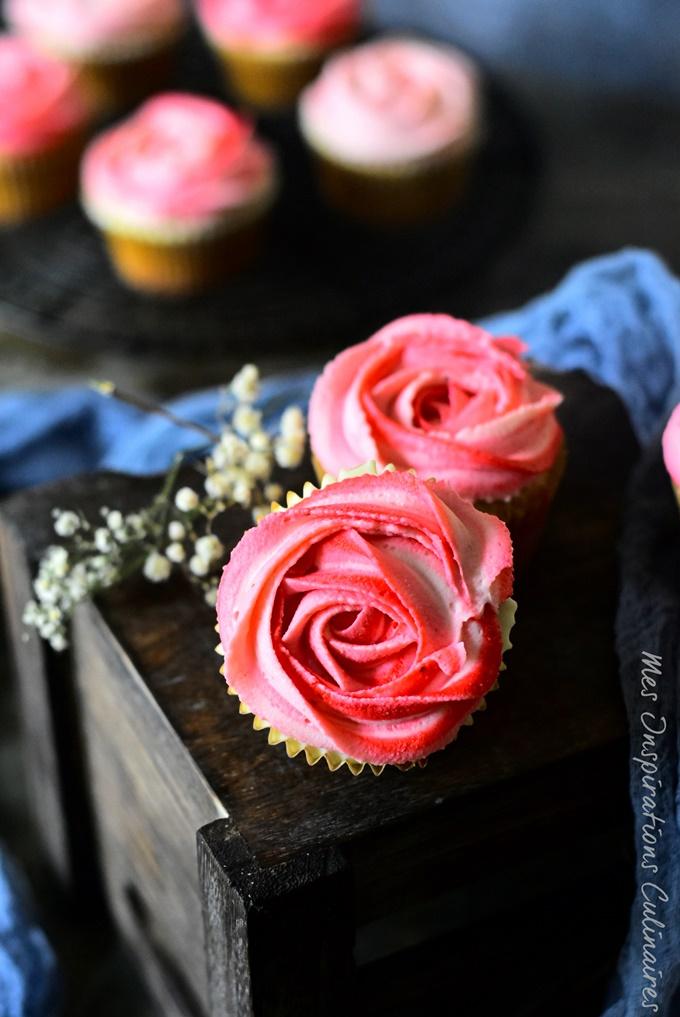 Recette cupcakes aux fraises ganache chocolat blanc