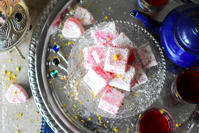 Loukoum Turc ou houlkoum traditionnel sans gélatine