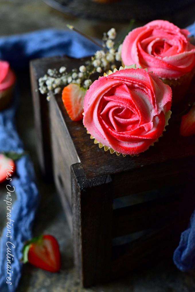 Recette cupcakes aux fraises