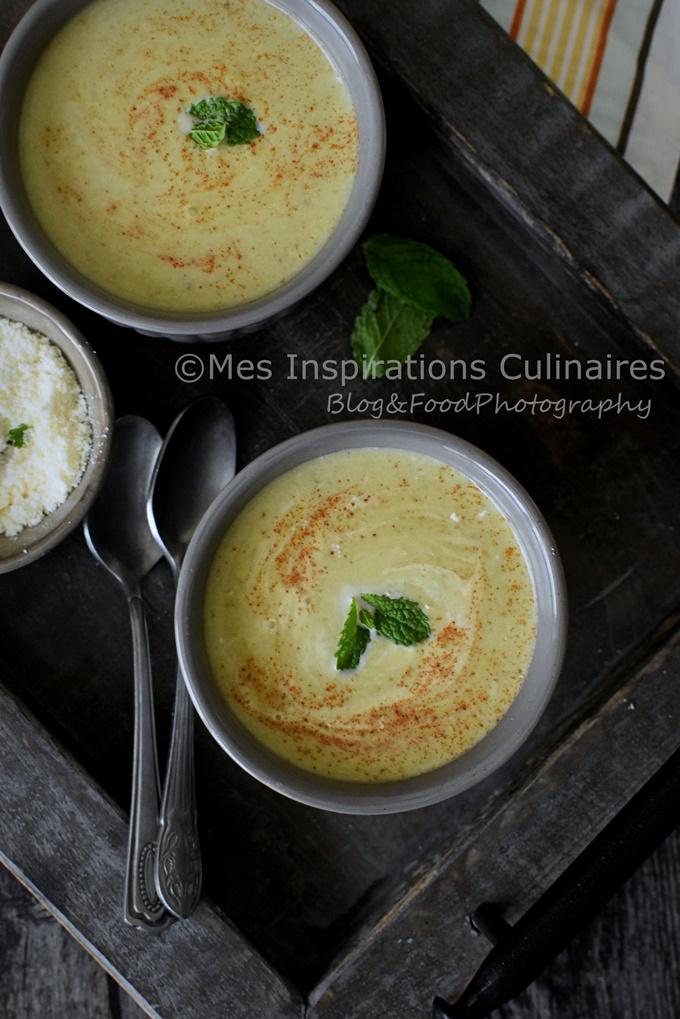 Gaspacho de courgette menthe, recette estivale simple