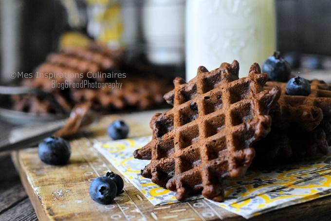 Recette gaufres croustillantes cacao et chocolat