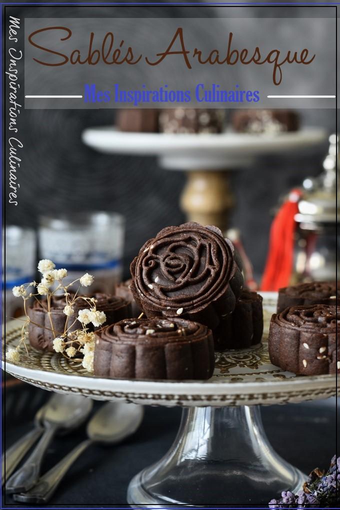 Sablés arabesque au cacao (pâte à brownie)