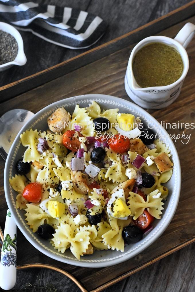 Salade de pâtes au poulet recette facile