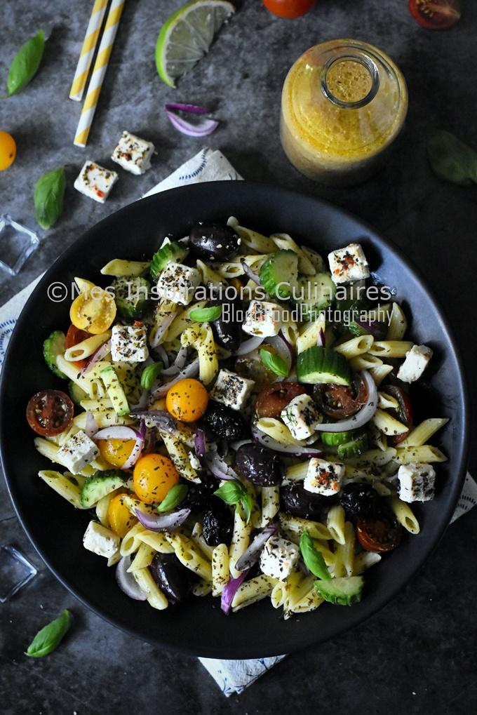 Salade de penne façon grecque